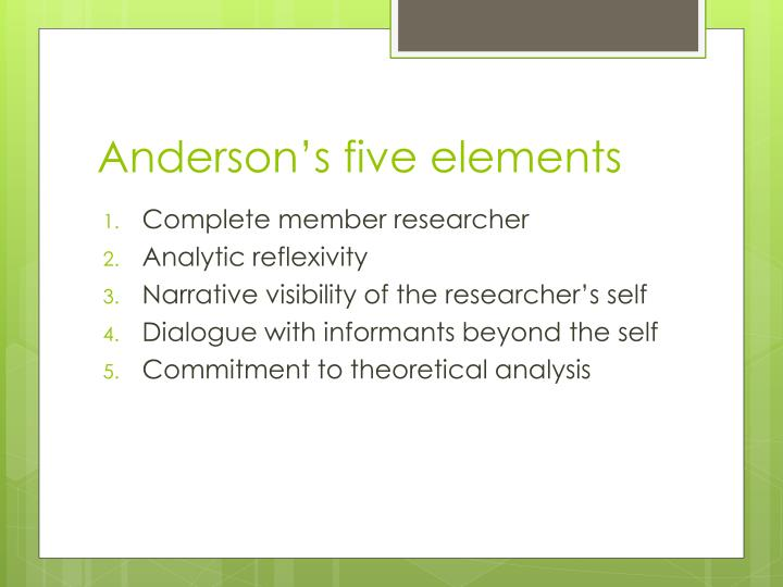 Anderson's five