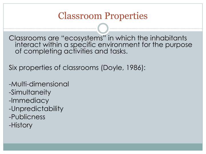 Classroom Properties