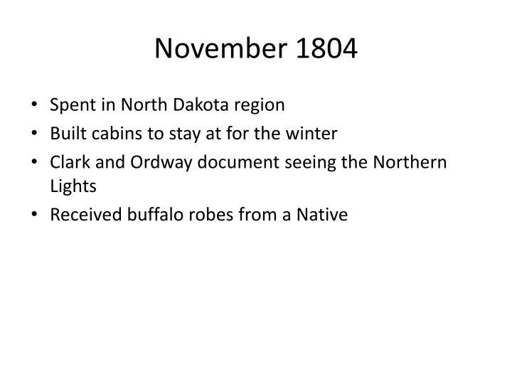 November 1804