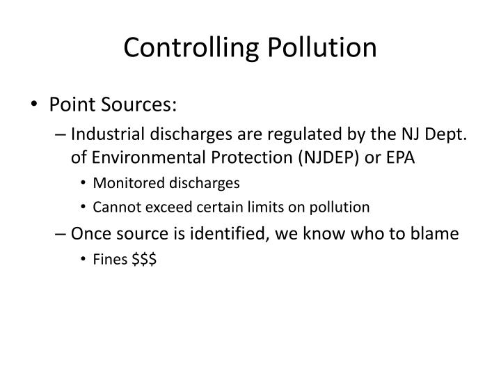 Controlling Pollution