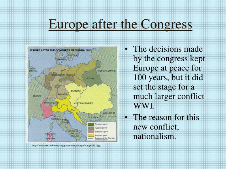 Europe after the Congress
