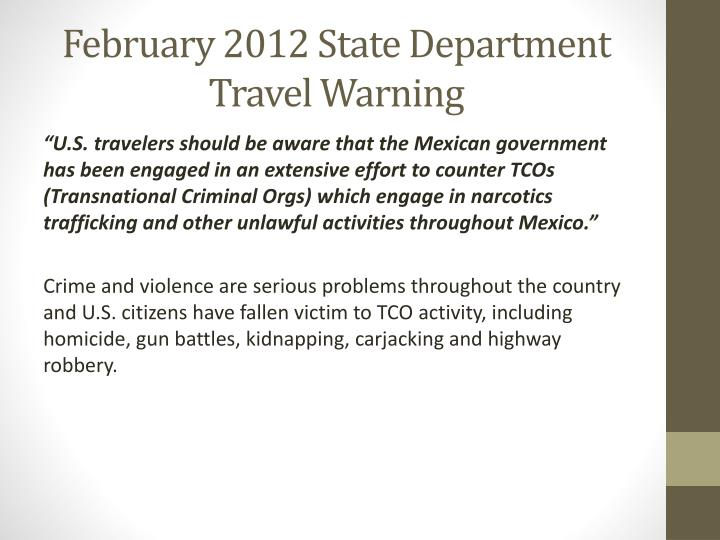 february 2012 state department travel warning