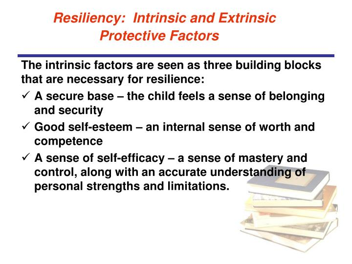 Resiliency:  Intrinsic and Extrinsic Protective Factors