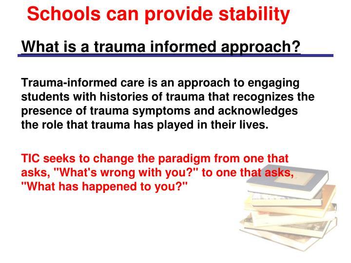 Schools can provide