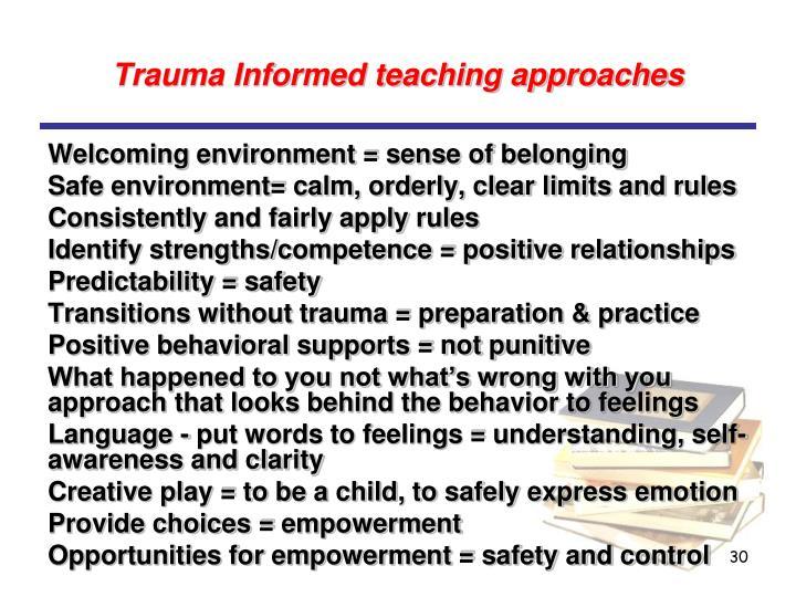 Trauma Informed teaching approaches