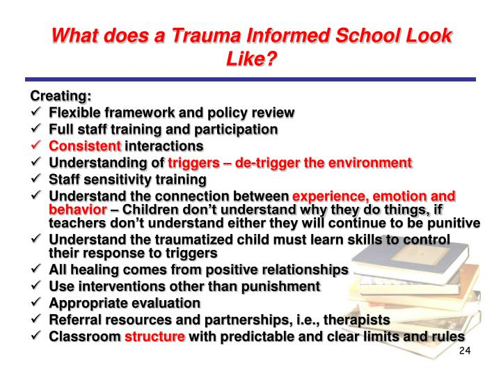 What does a Trauma Informed School Look Like?