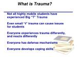 what is trauma1