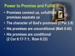 power to promise and fulfill