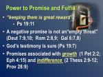 power to promise and fulfill1