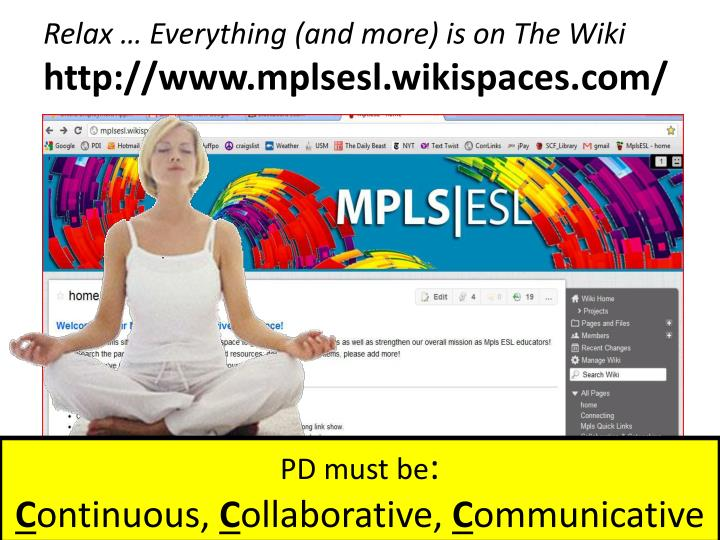 Relax … Everything (and more) is on The Wiki