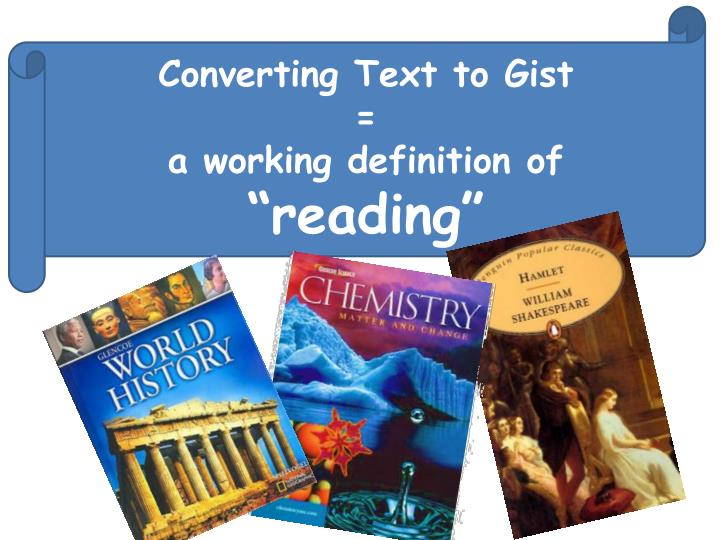 Converting Text to Gist