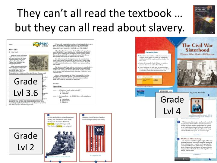 They can't all read the textbook …