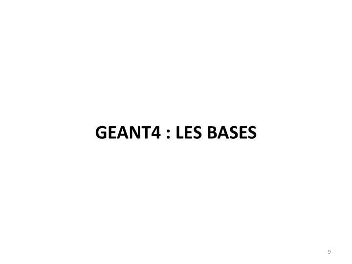 Geant4 : les bases