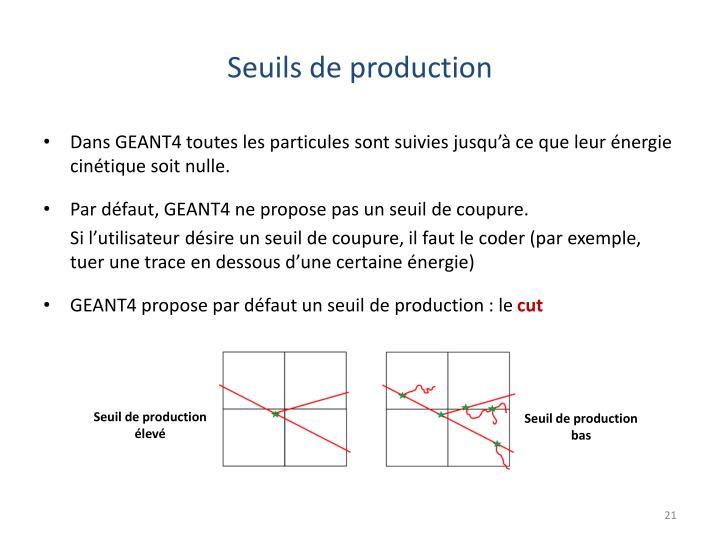 Seuils de production
