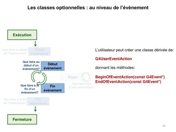 Les classes optionnelles : au niveau de l'évènement