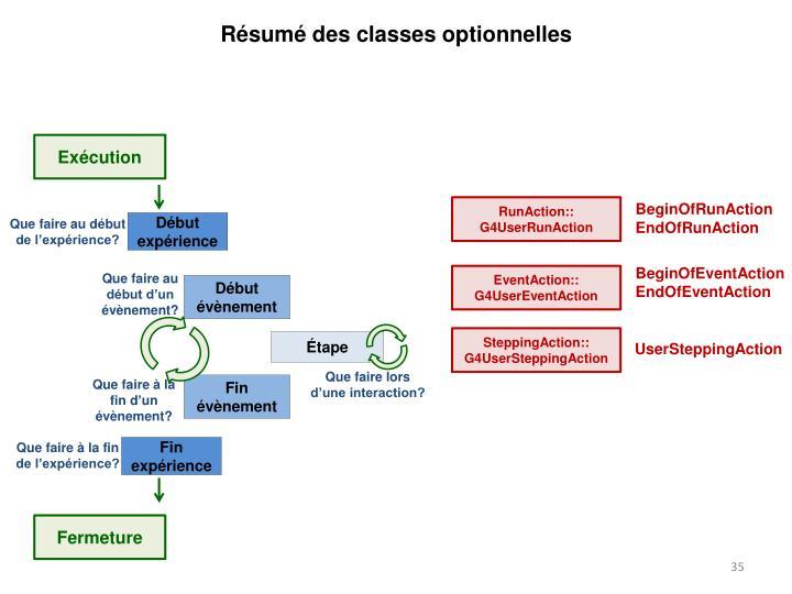 Résumé des classes optionnelles