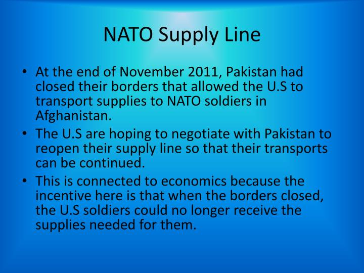 NATO Supply Line