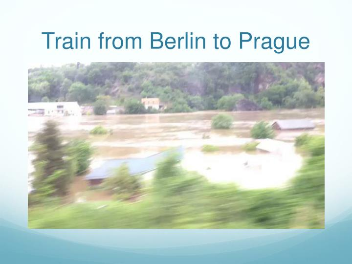 Train from berlin to prague