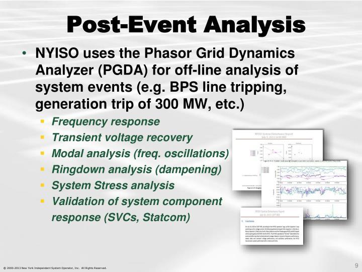 Post-Event Analysis