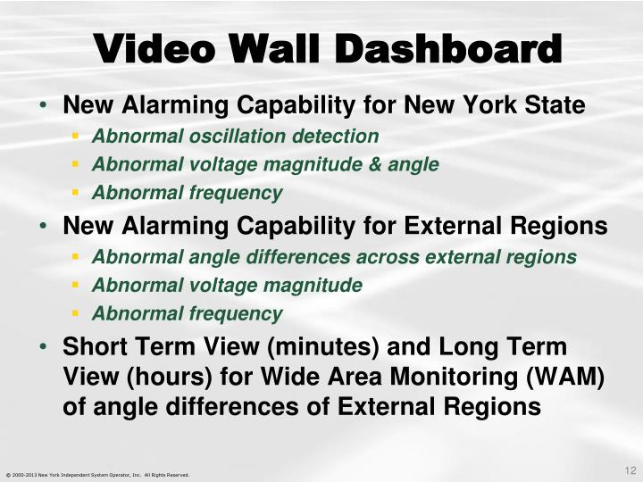 Video Wall Dashboard