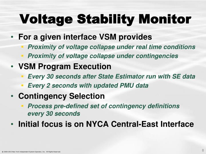 Voltage Stability Monitor