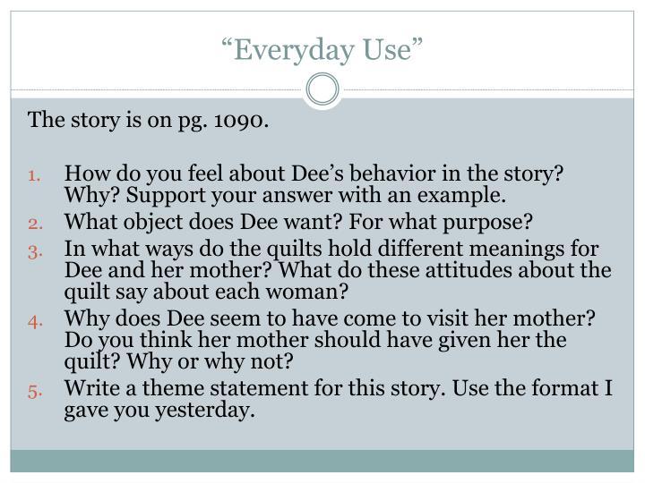 """Everyday Use"""