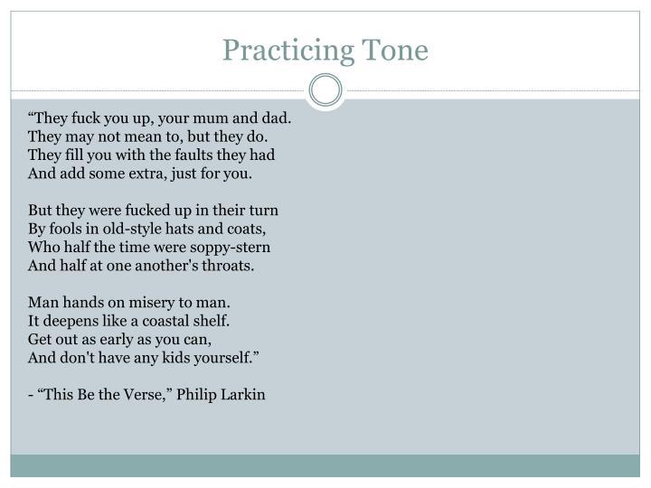 Practicing Tone