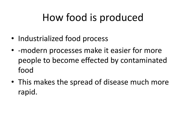How food is produced