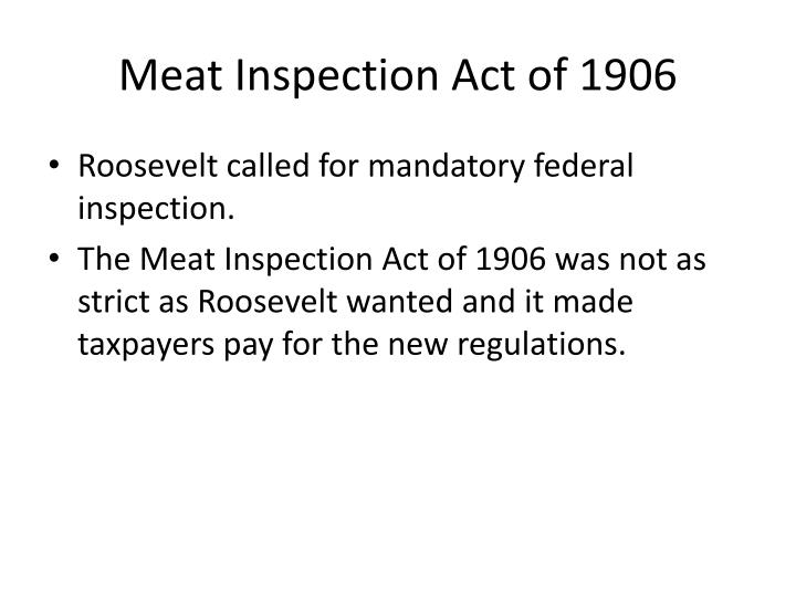 Meat Inspection Act of 1906