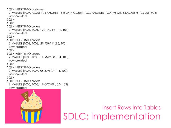 SQL> INSERT INTO customer