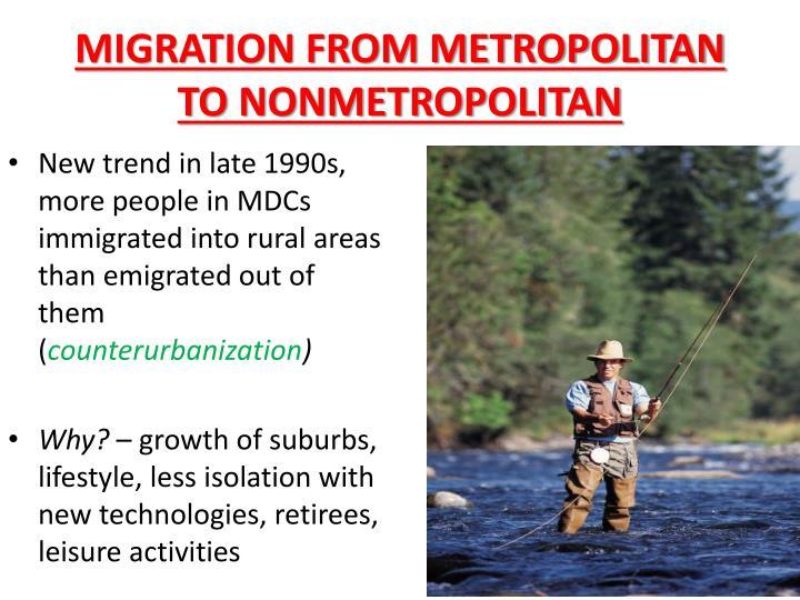 MIGRATION FROM METROPOLITAN TO NONMETROPOLITAN