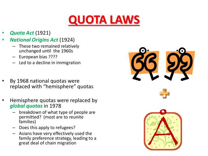 QUOTA LAWS