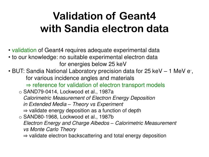 Validation of Geant4