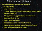 astronomy specific issues
