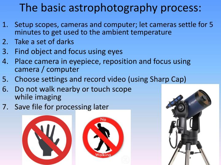 The basic astrophotography process: