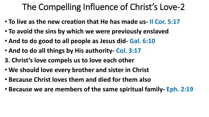 The Compelling Influence of Christ's Love-2