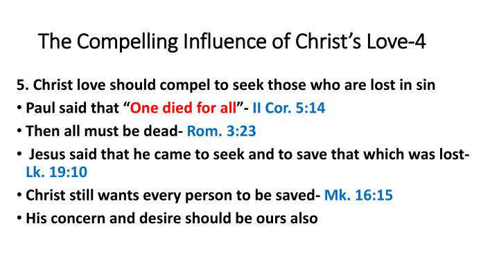 The Compelling Influence of Christ's Love-4
