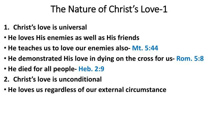 The Nature of Christ's Love-1