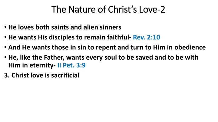 The Nature of Christ's Love-2