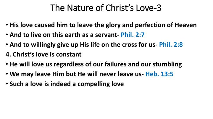 The Nature of Christ's Love-3