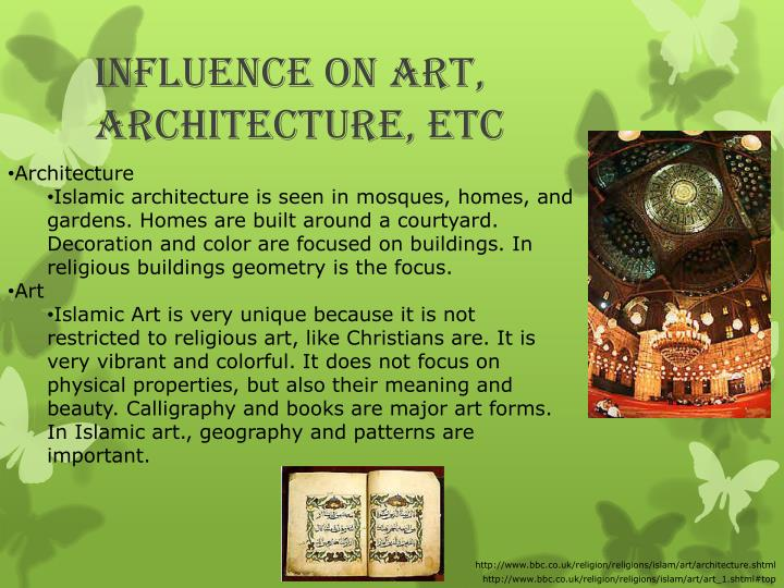 Influence on art, architecture, etc