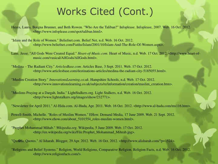 Works Cited (Cont.)