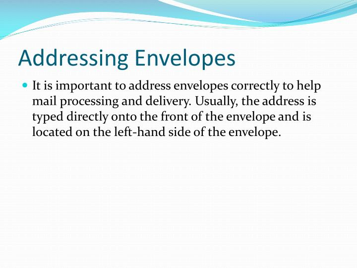Addressing Envelopes