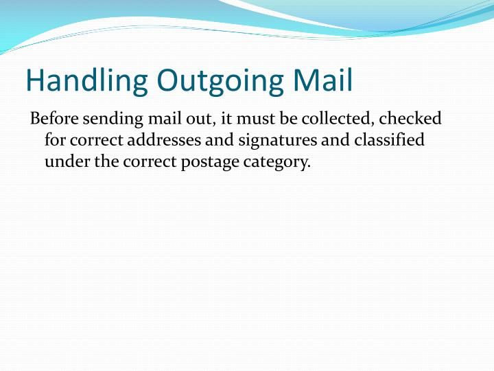 Handling Outgoing Mail