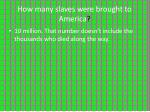 how many slaves were brought to america