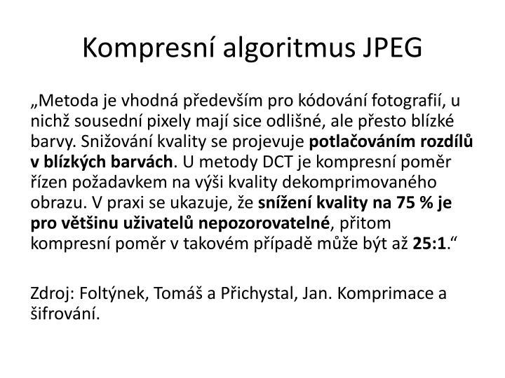 Kompresní algoritmus JPEG