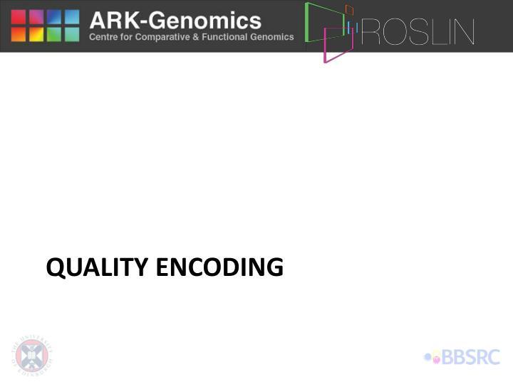 Quality encoding
