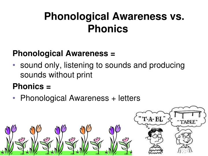 Phonological Awareness vs. Phonics