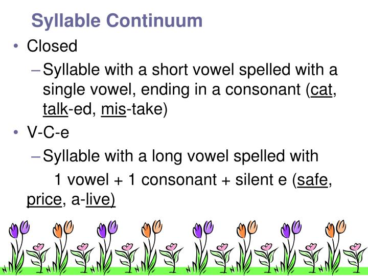 Syllable Continuum