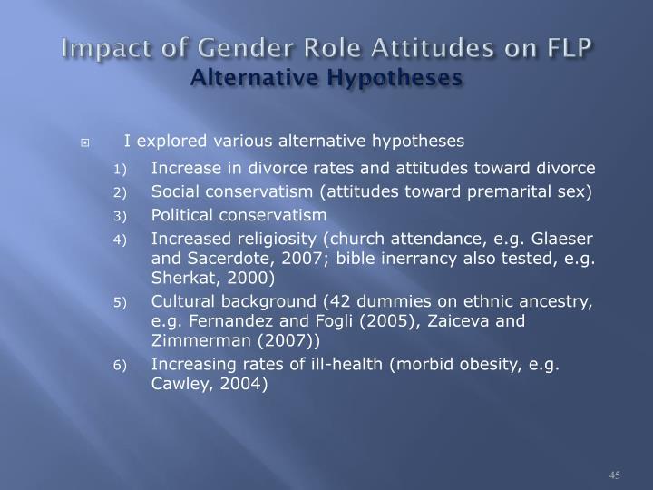 Impact of Gender Role Attitudes on FLP